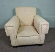 Cream and Pink Armchair