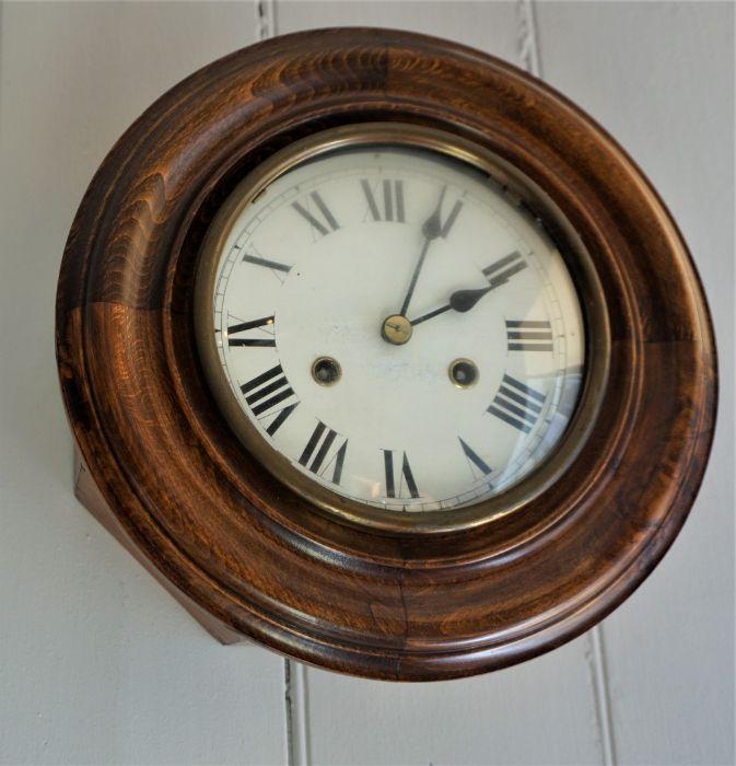 Mahogany Wall Clock,Circa Late 19th Century,Having a twin train movement,29cm diameter - Image 3 of 3