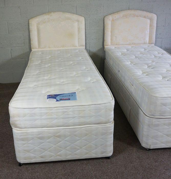 Pair of Divan Single Beds, 195cm long (2) - Image 2 of 8