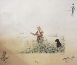 """After Ros Goody, """"First Catch of the Day"""", Limited edition colour print, inscribed in pencil"""