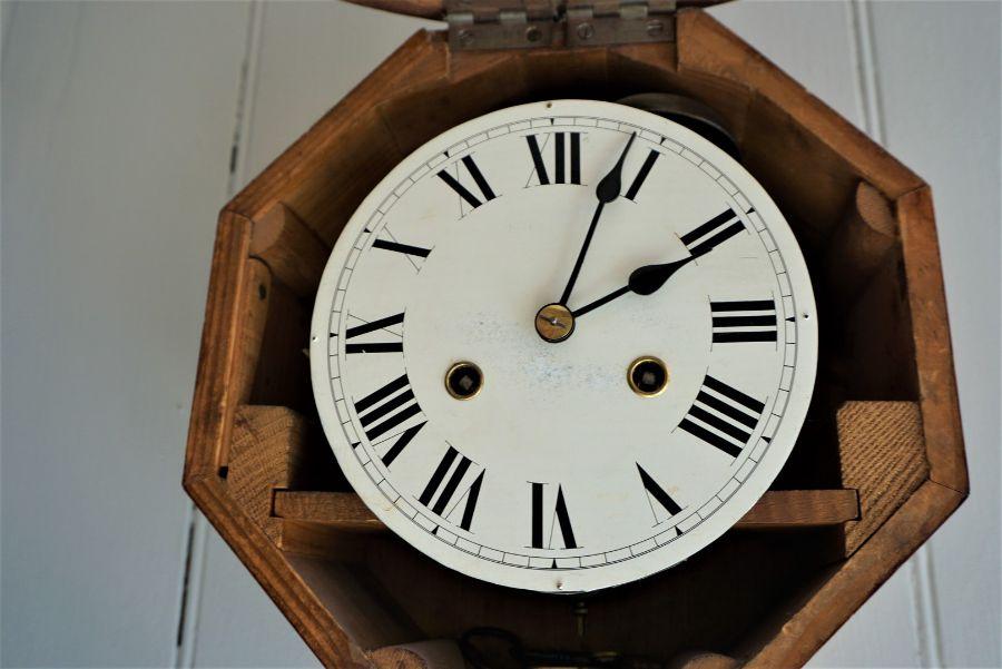 Mahogany Wall Clock,Circa Late 19th Century,Having a twin train movement,29cm diameter - Image 2 of 3