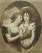 "After Richard Cosway, ""Mrs Scott & Her Daughter Harriet, Afterwards Duchess of Portland"""