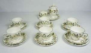 Wedgewood China Tea Service, 20th century, printed with the Beaconsfield pattern, Comprising of