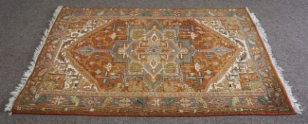 A large handmade Bokhara rug with authenticity from the Mihrab Gallery