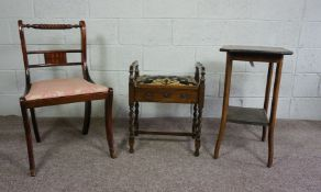 Regency Style Dining Chair, 85cm high, With a Piano Stool, And an Occasional Table (3)