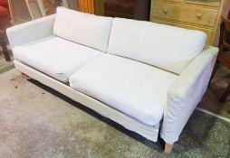 Modern Three Seater Sofa Bed, 64cm high, 227cm wide