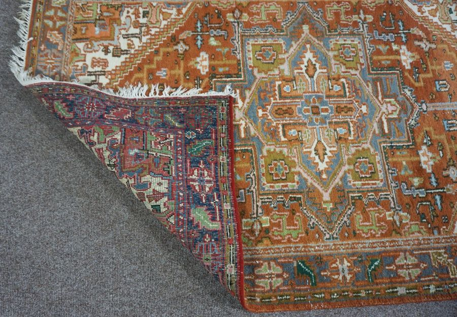 A large handmade Bokhara rug with authenticity from the Mihrab Gallery - Image 3 of 3