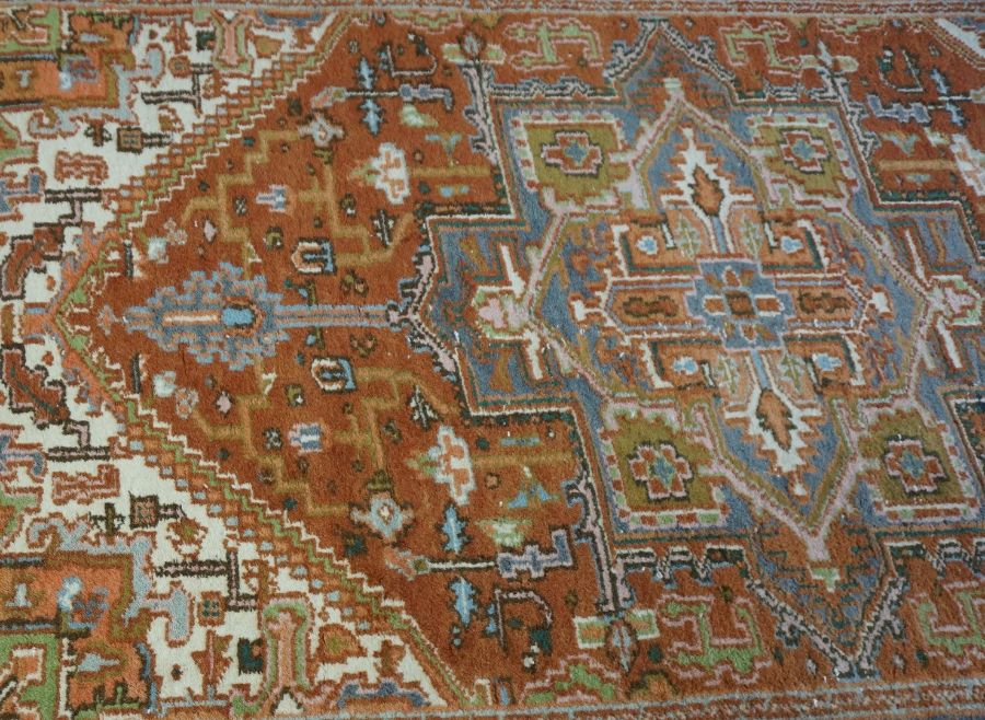 A large handmade Bokhara rug with authenticity from the Mihrab Gallery - Image 2 of 3