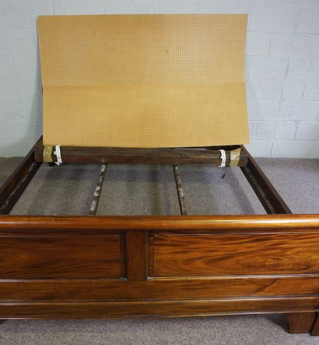 Hardwood King Size Bed,Having side rails and slats,Larger bed end 90cm high, 191cm wide - Image 6 of 6