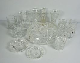 Collection of Decorative Glass & Crystal,To include a Set of Six Cranberry Wine Glasses,