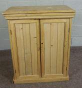 Victorian Pine Cupboard,Having two doors,93cm high, 73cm wide, 40cm deep