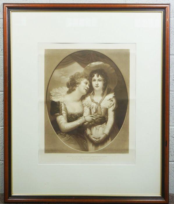 "After Richard Cosway, ""Mrs Scott & Her Daughter Harriet, Afterwards Duchess of Portland"" - Image 2 of 4"