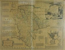 """After Eman Bowen-An Accurate Map of Devonshire, Divided into its Hundreds, """"An Accurate Map of"""