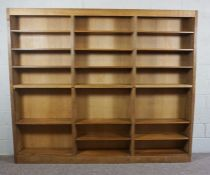 A Robert Thompson of Kilburn 'Mouseman' Bookcase, An early Mouseman 8ft Bookcase in excellent