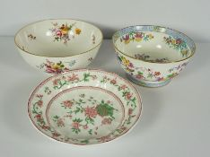 """Royal Crown Derby """"Derby Posies"""" Bowl, 16cm high, With a Minton Floral Bowl, And a Royal Worcester"""
