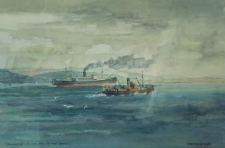 """David Wood (1933-1996),""""Salween at the Tail of the Bank"""",""""A Yacht on the Clyde"""",""""East Coast"""