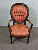 Queen Anne Style Walnut Dining Chair, Walnut Chair with decorative carvings, Circa 19th Century