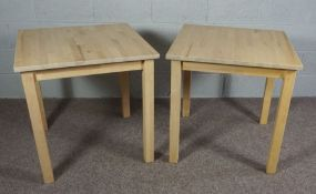 A Pair of Modern Pine Tables