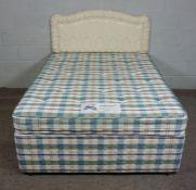 Divan Double Bed, 150cm long