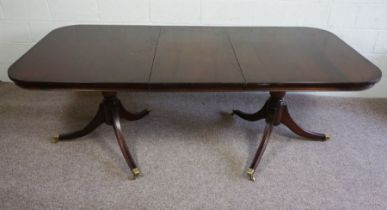 Reproduction Twin Pedestal Dining Table, 79cm high, 213cm long, 100cm wide