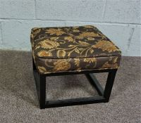 Iron Footstool with decorative covering