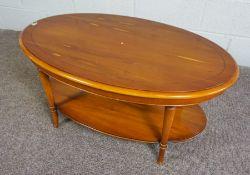 Modern Yew Wood Coffee Table, 45cm high, 97cm wide