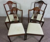 Set of Four Reproduction Wheatsheaf Dining Chairs, 95cm high (4)