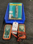 ASS'T EXTECH VOLTAGE DETECTOR & MULTIMETERS