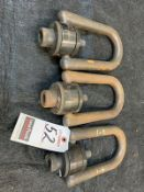 H.D. STEEL SWIVEL LIFTING RING FIXTURES, 10,000# CAP. EACH