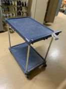 2-TIER POLY & CHROME UTILITY CART
