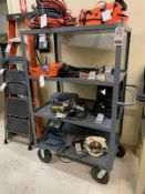 JAMCO 3' X 5' 4-TIER STEEL UTILITY CART