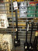 BLACK METAL FIREPLACE SHOVELS & BROOMS