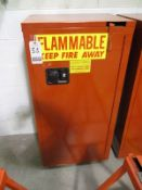 """SECURE ALL 2'X4'X18"""" METAL 1D FLAMEPROOF STORAGE CAB. W/ CONTENTS"""