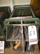 STEEL WELDERS CHIPPING HAMMERS W/ METAL BIN