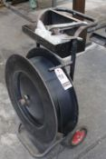 PORT. METAL STRAPPING MACHINE W/ TOOLS