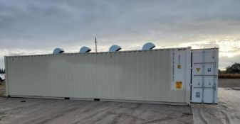 Used- Custom Hemp Dryer. Capable of drying up to about 2,000 pounds per unit per 24 hour shift.