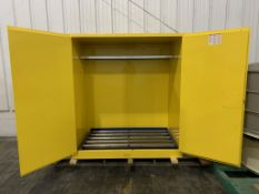 Used-ULINE Barrel Sz Vertical Drum Storage Cabinet. Model H-3686M. Holds 30 to 55-gallon drums.