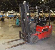 (1) Raymond Sit Down Electric Forklift, Model 445-C40TT, Serial# 445-13-11468.