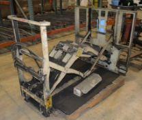 (1) Cascade Push Pull Forklift Attachment, Model 35E-QB-007, Serial# P-00001.