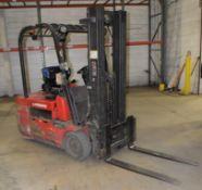 (1) Raymond Sit Down Electric Forklift, Model 445-C40TT, Serial# 445-13-11462.