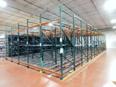 Flow Type Roller Conveyor Pallet Racking, Approximate 24' x 60' x 11'. (NO CONTENTS)