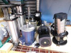 Assorted Pump Parts & Motors