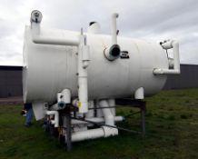 Morfab Company Horizontal Liquid Ammonia Receiver Tank