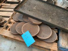 """(1) Pallet of 12"""" Hydraulic Slide Plate Screen Changer Breaker Plates"""