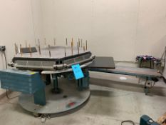 Brackett Padder Press Model CPM2D, S/N 389266A, with Dayton Powered Conveyor, Spare Parts, and Padde