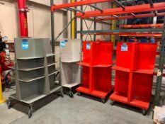 LOT: (2) Kansa Quadracarts and (2) Challenge Paper Carts