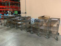 LOT: Assorted Uline Metro Rack Carts