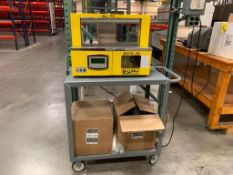 2018 Sunpack Tabletop Auto Banding Machine Model S470-30, S/N XT02DJ4871, with cart and banding film