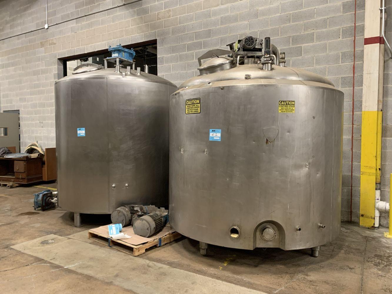 Surplus Food Grade Liquid Packaging & Processing Equipment