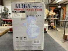 Align Power Table Feed